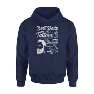 Best Dads Have Tattoos And Beards Hoodie