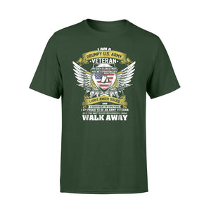 I Am A Grumpy Us Army Veteran Funny Veteran Gift T-Shirt