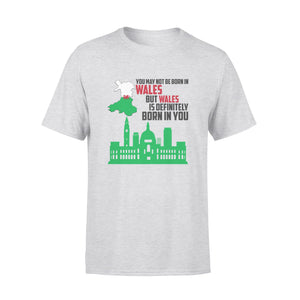 Mens Cotton Crew Neck T-Shirt - Wales Is Definitely Born In You 01