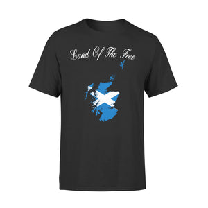Mens Cotton Crew Neck T-Shirt - Land Of The Tree 01