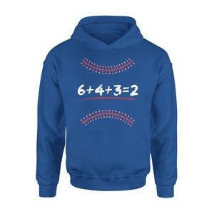 Baseball Math 6 4 3 2 Double Play Hoodie