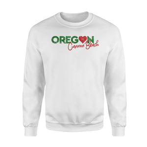 Cannon Beach Oregon Retro Love Sweatshirt