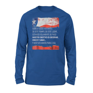 Chilean Flag American Chileans  Bandera De Chile Premium Long Sleeve T-Shirt