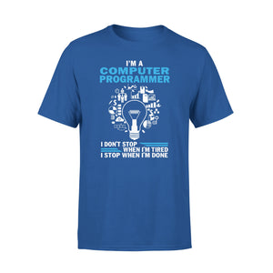 Mens Cotton Crew Neck T-Shirt - Im A Computer Programmer