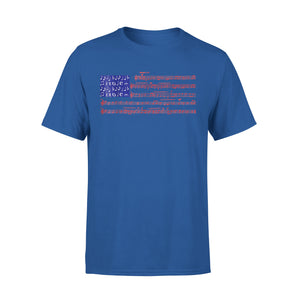 4th Of July Gift Independence Music Note America Flag Premium T-Shirt