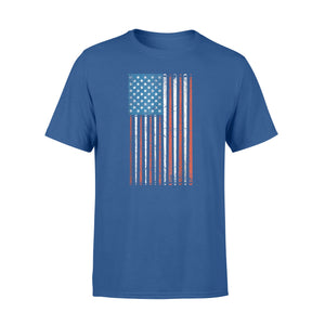 American Flag Billiard Sticks T-Shirt