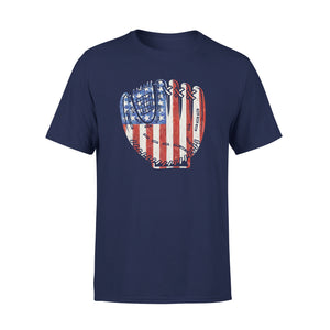 Baseball Usa Flag Sports Team Fan Vintage 4th Of July T-Shirt