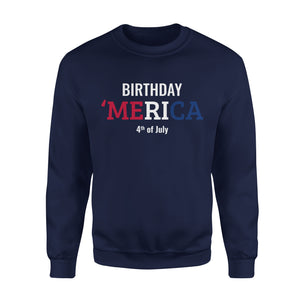 Women's Cotton Sweatshirt - Birthday America 4th Of July - United States Independence Day - MRA