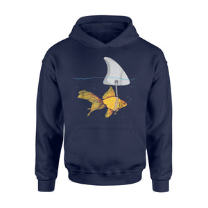 Fake Shark Goldfish - Funny Fish Hoodie