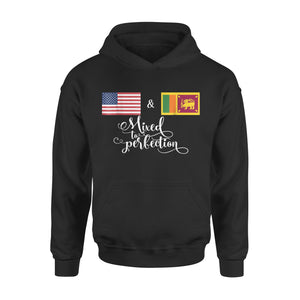 American + Sri Lankan Mixed To Perfection Flag Premium Hoodie