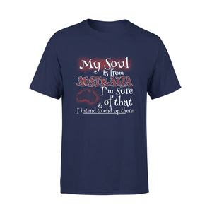 Mens Cotton Crew Neck T-Shirt - My Soul Is From Australia 01