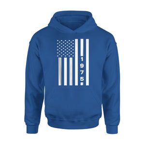 American Flag 1975 43rd Years Old Shirt 43 Birthday Gift copy - Premium Hoodie Premium Hoodie
