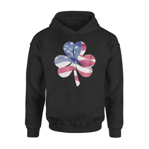 Clover American Flag Forth Of July Shamrock Premium Hoodie
