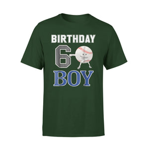 6 Year Old Birthday Flossing Baseball T-Shirt