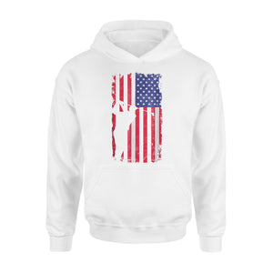 American Flag Golf Gift 4th Of July Premium Hoodie