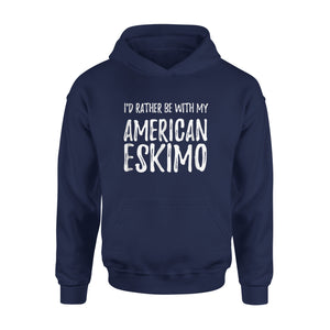 American Eskimo Dog Mom Or Dog Dad Hoodie