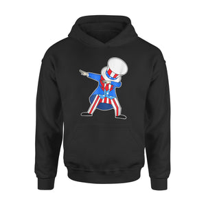 4th Of July Uncle Sam Dab American Flag Patriotic Premium Hoodie
