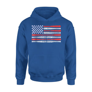 American Flag - Patriotic 4th Of July Baseball Premium Hoodie