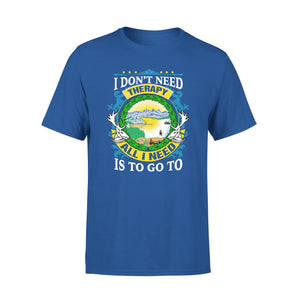 Mens Cotton Crew Neck T-Shirt - All I Need Is To Go To Alaska 01