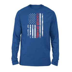 Cocker Spaniel American Flag Distressed Premium Long Sleeve T-Shirt