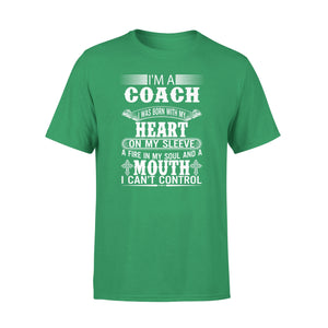 Mens Cotton Crew Neck T-Shirt - Im A Coach