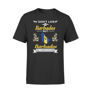 Mens Cotton Crew Neck T-Shirt - Barbados Will Always Live In Me 01