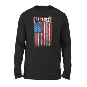 Craft Beer American Flag Home Brewing Gift Premium Long Sleeve T-Shirt