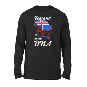 Iceland It's In My Dna Long Sleeve T-Shirt