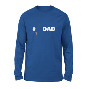 #1 Fishing Dad Fisherman Daddy Rod And Reel Long Sleeve T-Shirt