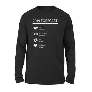 Forecast New Mom Dad Expecting Long Sleeve T-Shirt