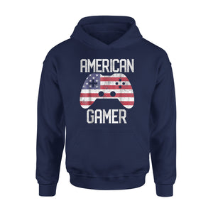 4th Of July American Flag USA Video Game Gamer Kids Premium Hoodie