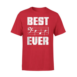 Best Dad Ever Bass Clef Musician Fathers Day 01 T-Shirt