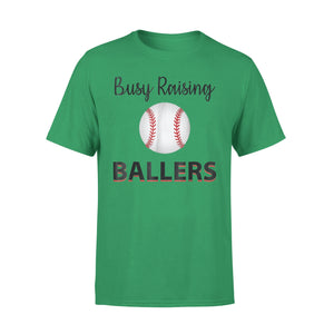 Baseball Mom Life Busy Raising Ballers Baseball Life T-Shirt