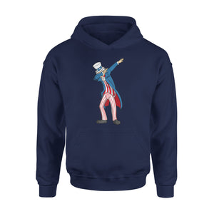 4th Of July Dabbing Uncle Sam Patriotic American Flag Premium Hoodie