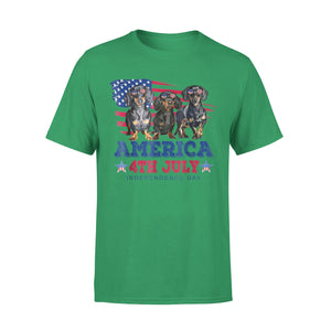 American4th July Independence Day- Dachshund Premium T-Shirt