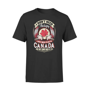 Mens Cotton Crew Neck T-Shirt - I Just Need To Go To Canada 01
