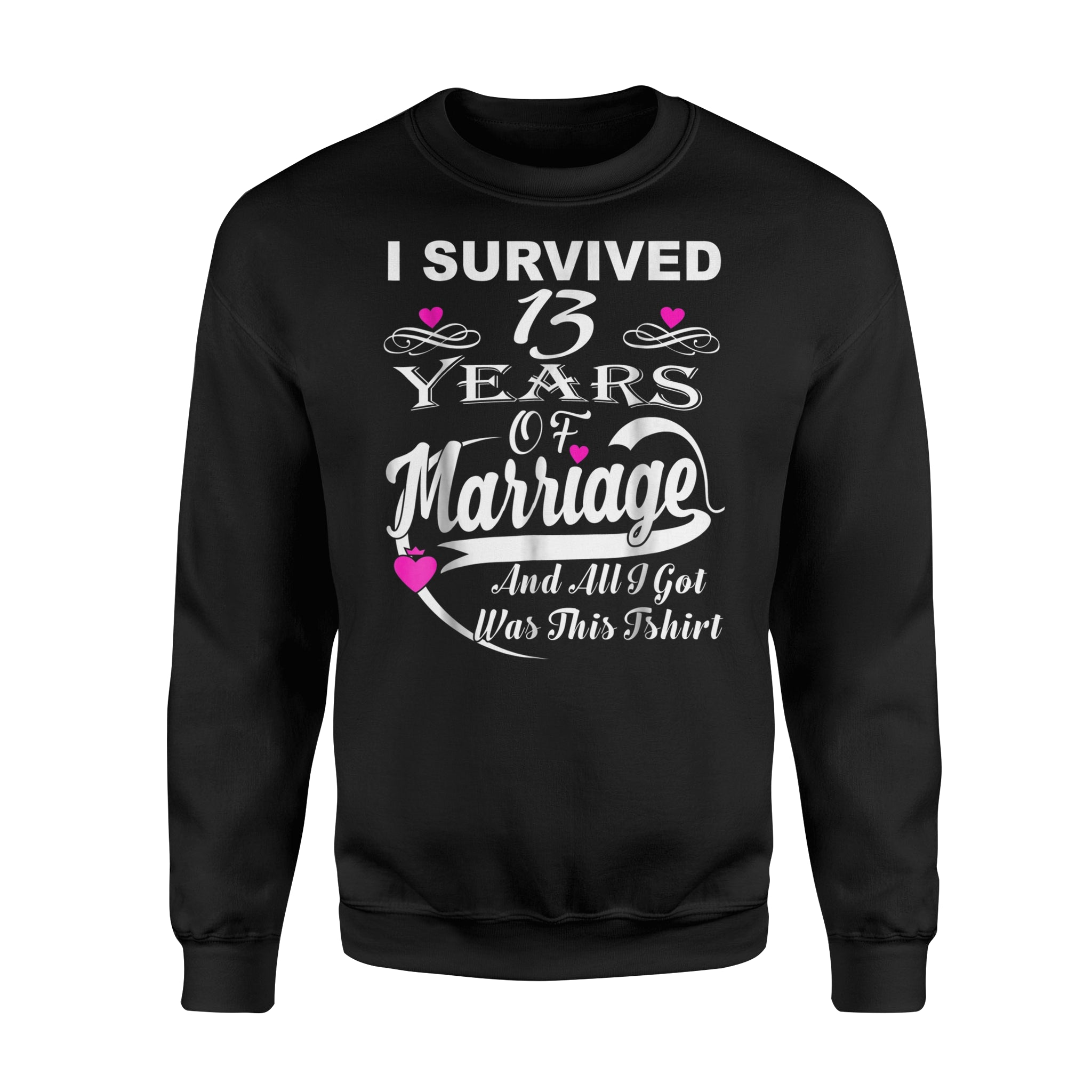 13th Wedding Anniversary Gift For Her: 13th Wedding Anniversary Gift For Women Men Sweatshirt