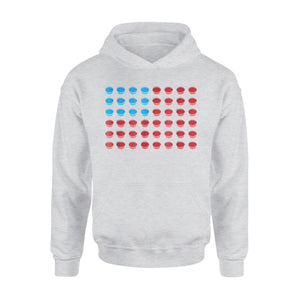 American Flag July Fourth Jello Shot Drinking Party Premium Hoodie