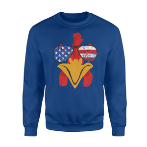 American Chicken Face Usa Sunglasses 4th Of July Sweatshirt