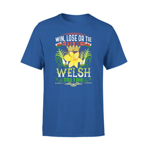 Mens Cotton Crew Neck T-Shirt - ILl Be Welsh Till I Die 01