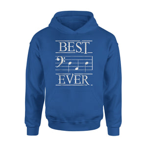 Best Dad Ever Bass Clef Musician 03 Hoodie