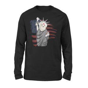 Bichon Frise Independence Day Premium Long Sleeve T-Shirt