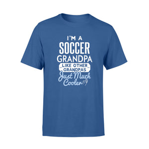 Cool Fathers Day Soccer Grandpa T-Shirt-RD