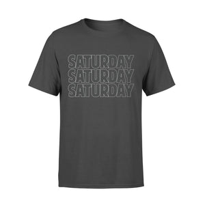 Saturday Black Flower Seven-Day Of The Week - Premium T-shirt