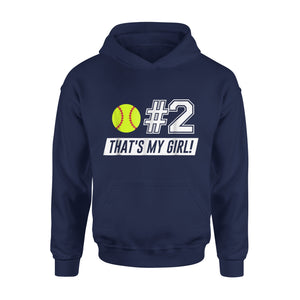 #2 Softball Mom, Softball Dad Hoodie