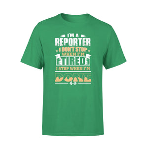 Mens Cotton Crew Neck T-Shirt - Im A Reporter 02