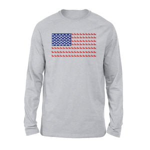 Chihuahua US Flag American Flag Shirt Premium Long Sleeve T-Shirt