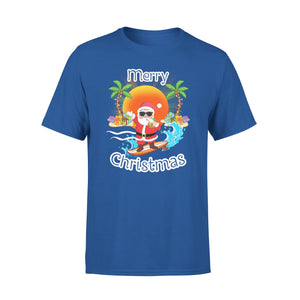 Mens Cotton Crew Neck T-Shirt - Merry Christmas 03