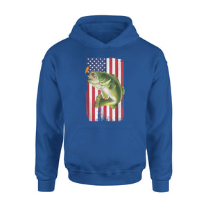 American Flag Bass Fishing Patriot Premium Hoodie