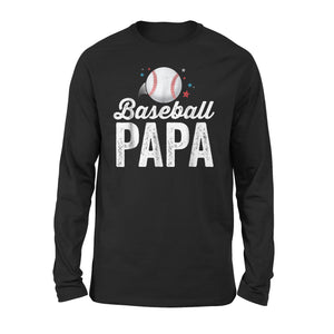 Baseball Papa Long Sleeve T-Shirt